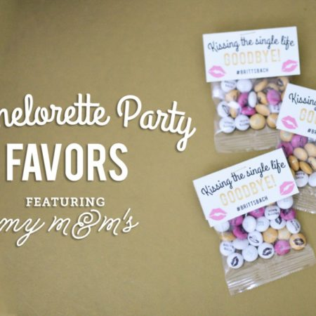 bachelorette party favors featuring MyM&M's