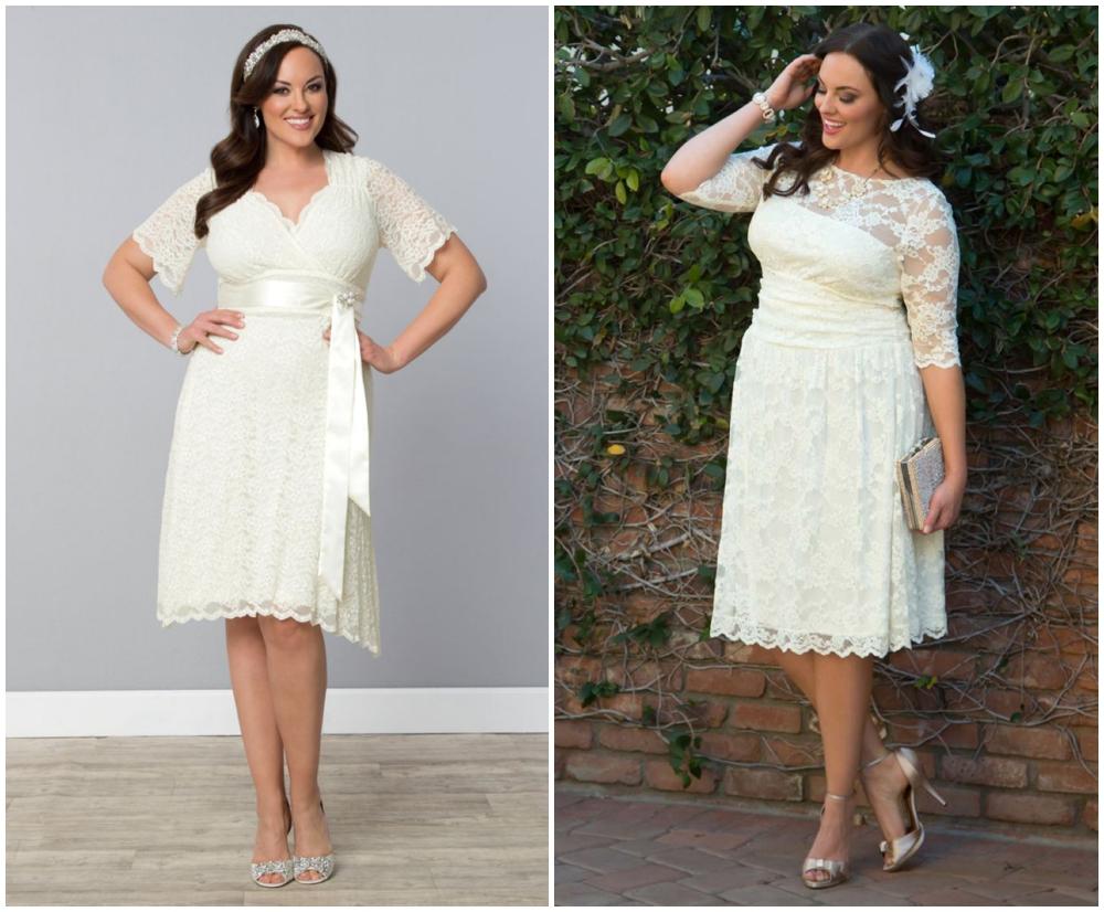 plus size vintage wedding gown