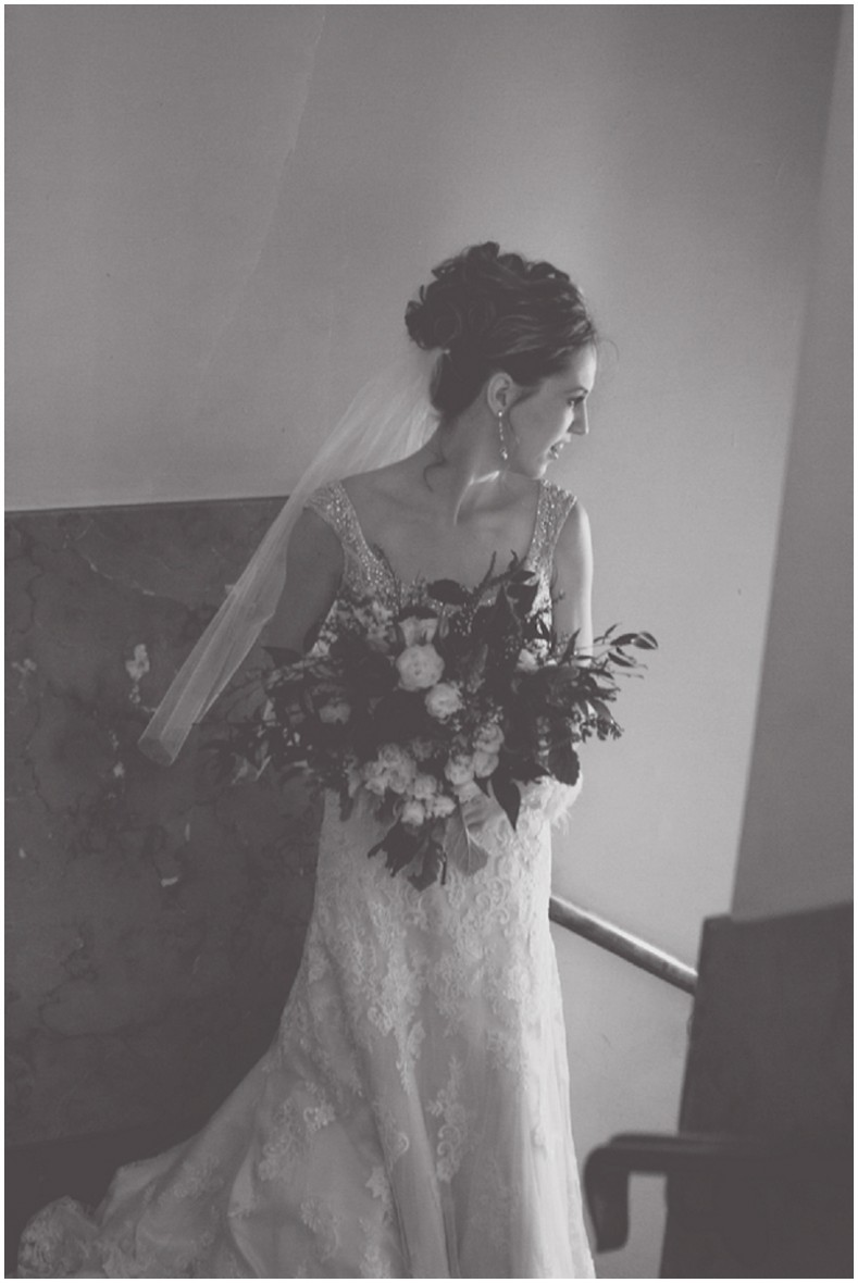 winter bridal photos