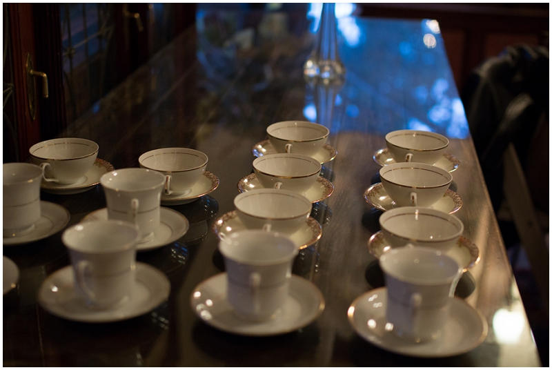 wedding reception teacups