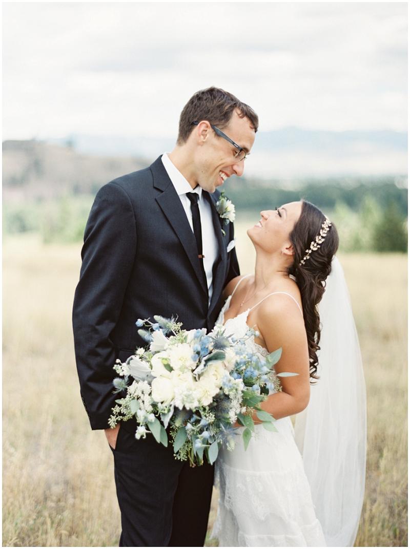 Montana outdoor wedding photos