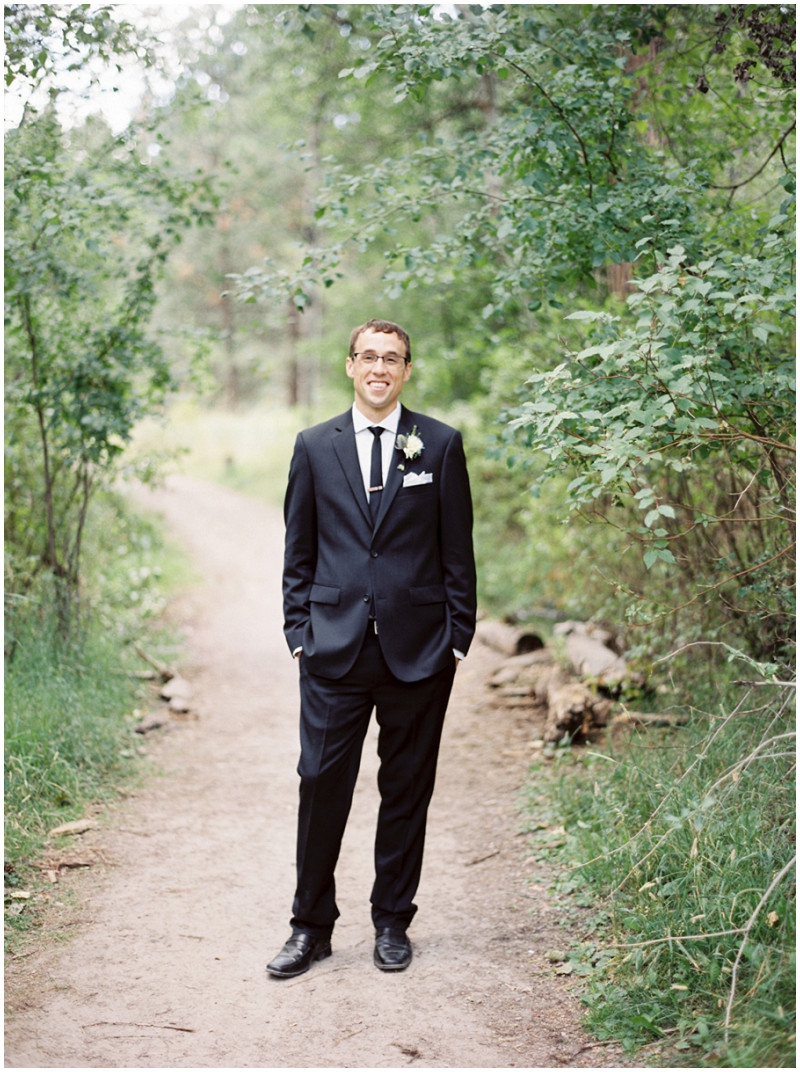 black groom's attire