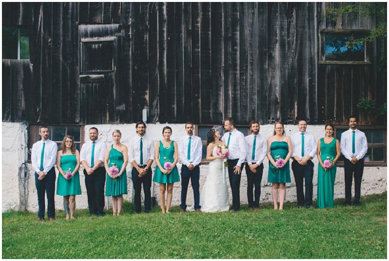 emerald wedding party attire