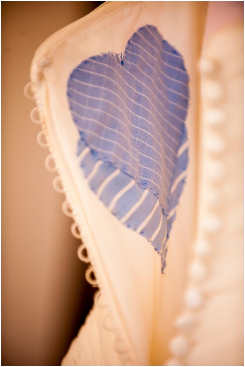 personalized wedding dress something blue - vintage wedding