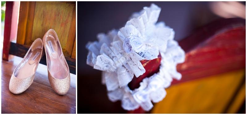 lace garter - vintage wedding