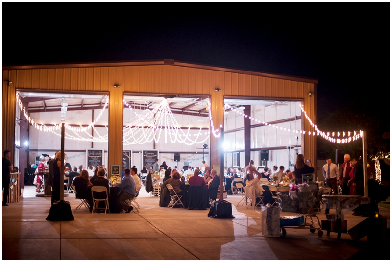 barn outdoor wedding reception