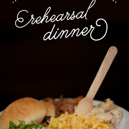 tips for a frugal rehearsal dinner