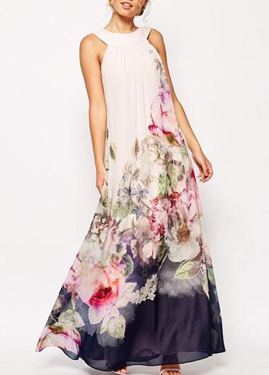 printed floral bridesmaids dress
