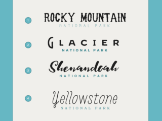 font pairings for your national park wedding