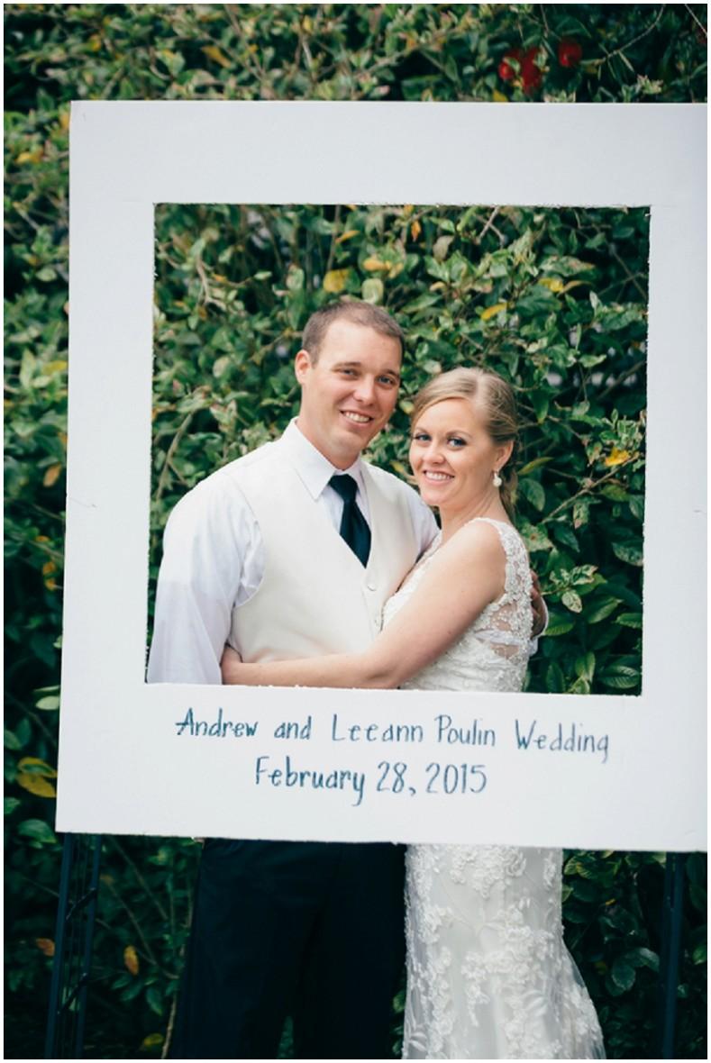 faux Polaroid wedding photo