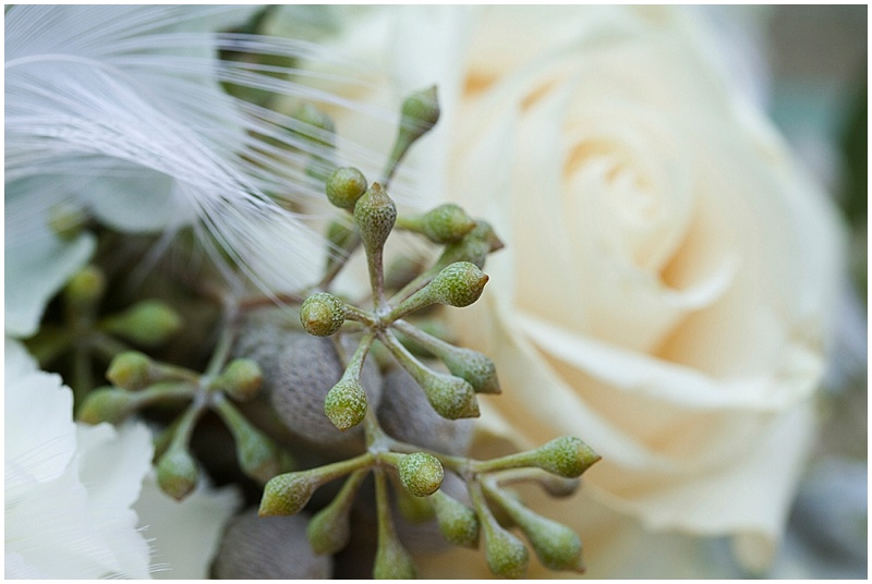 cream and soft green wedding bouquet