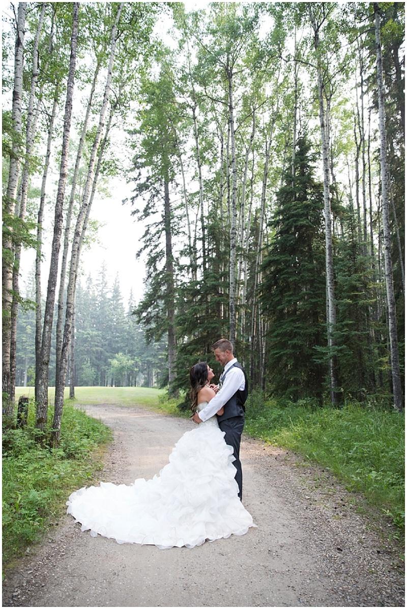 gravel road wedding photos