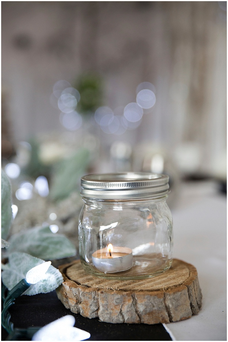 mason jar reception decor