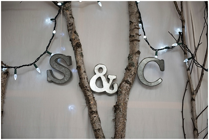 birch tree wedding reception decor