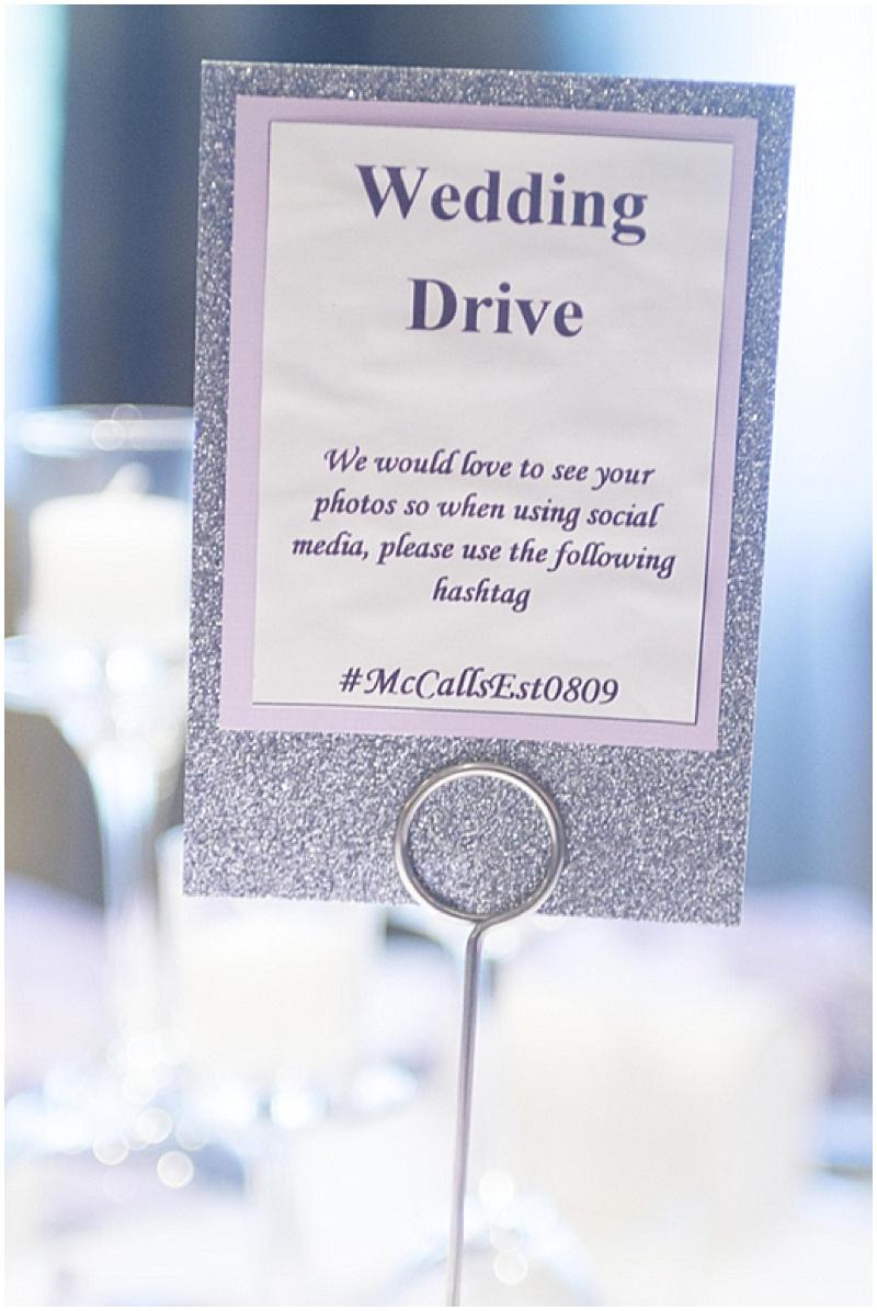 purple wedding reception decor