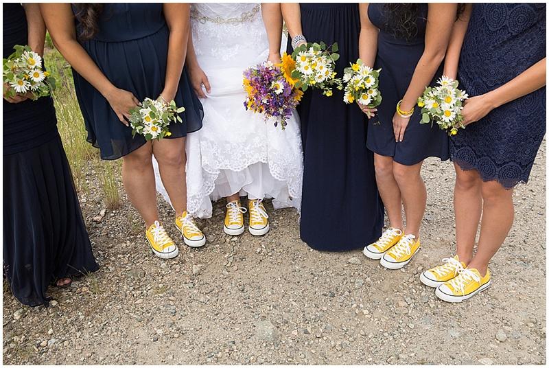 bride yellow converse