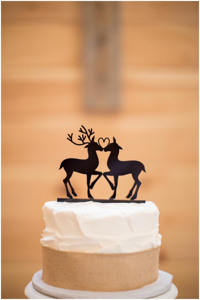 deer wedding cake toppers