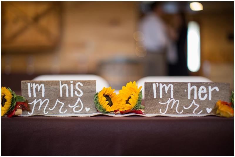 wedding reception signage