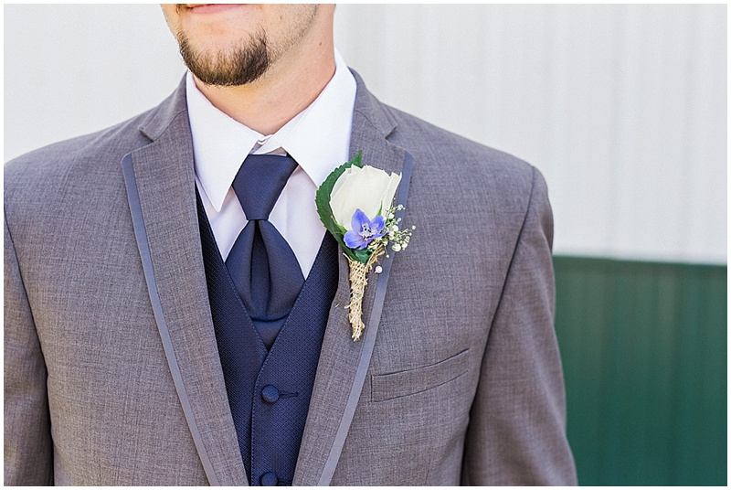 navy and gray wedding