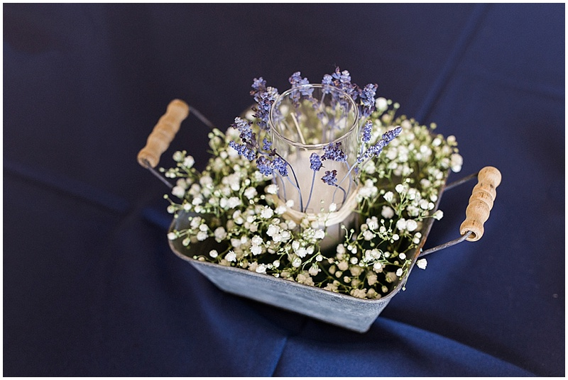 baby's breath centerpieces -rustic farm wedding
