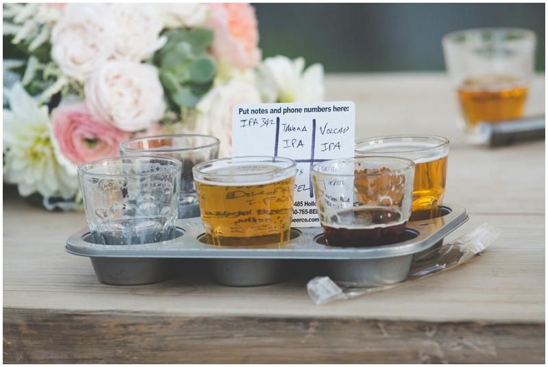 beer tasting wedding