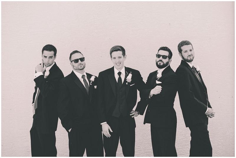black suits groom attire