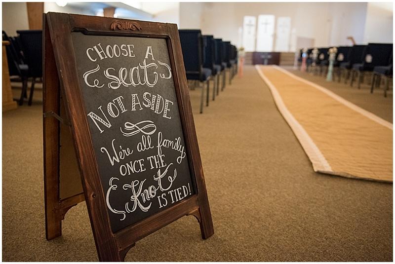 chalkboard wedding signage