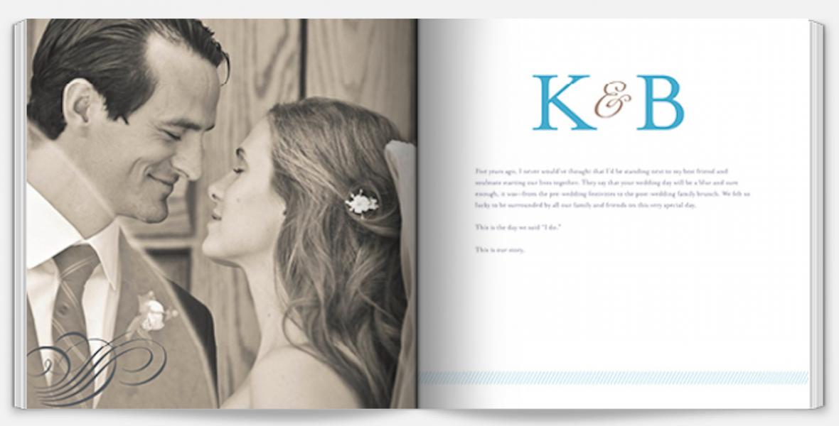 @Shutterfly wedding photo books - great wedding album idea for budget savvy brides!