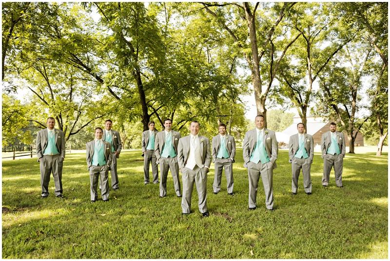 aqua wedding party