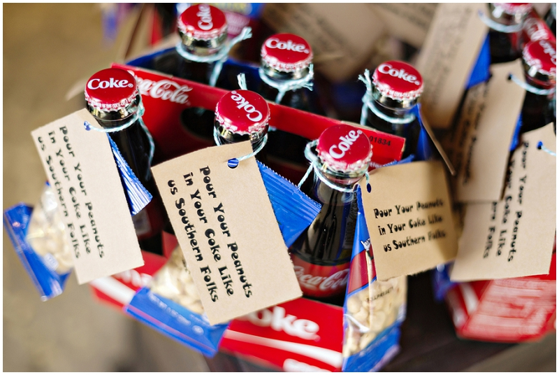 coke wedding favors