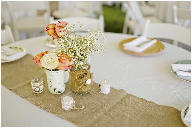 terra cotta wedding reception decor