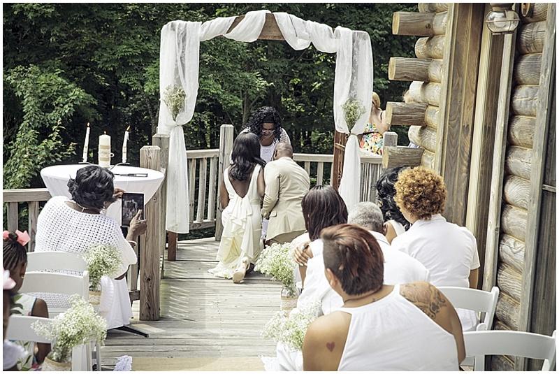 outdoor deck wedding ceremony