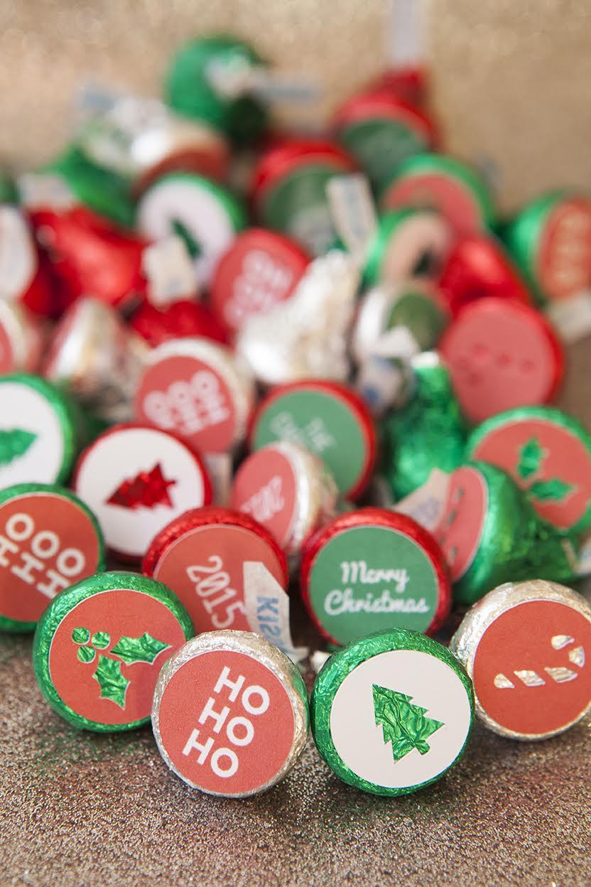 christmas hershey kiss stickers