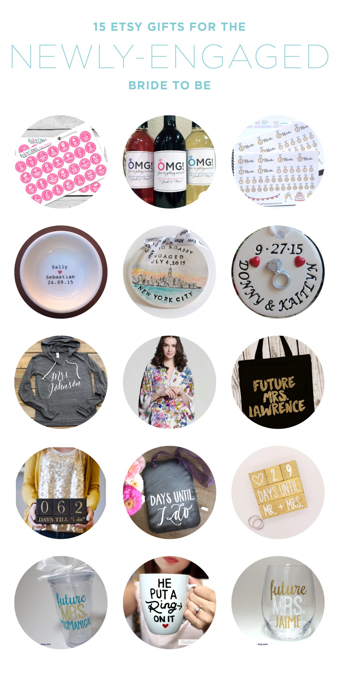 15 Etsy Gifts for the Newly Engaged Bride to Be