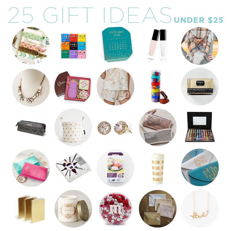 bridesmaids gift ideas under 25 dollars