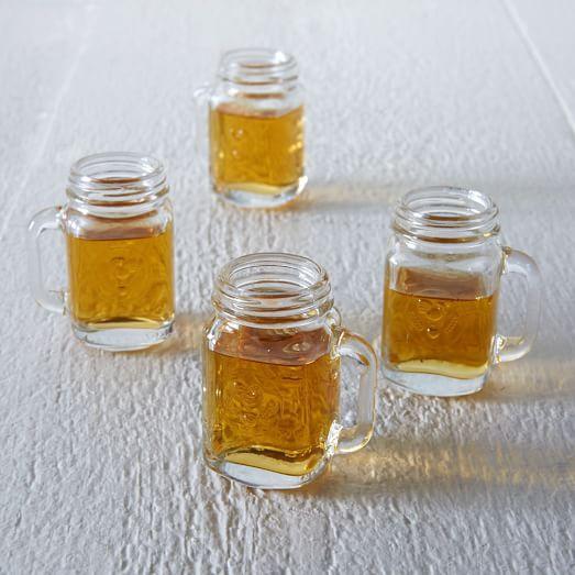 mini mason jar shot glasses