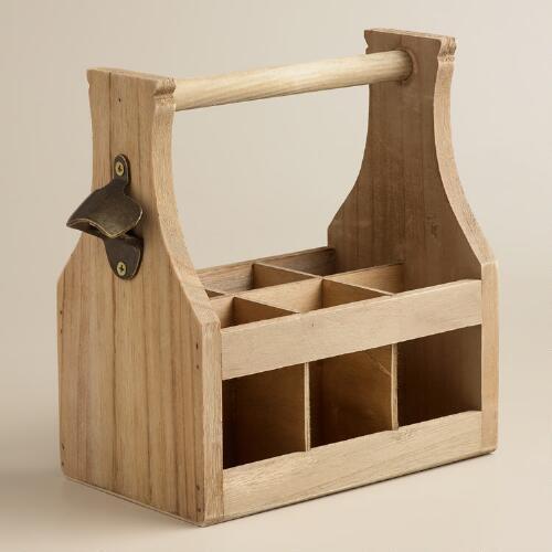 wooden six pack holder