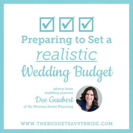 realistic wedding budget