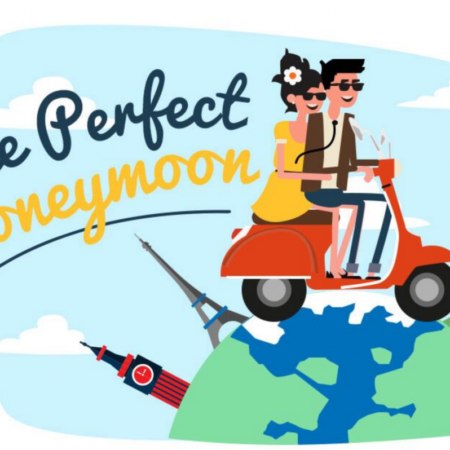 the perfect honeymoon infographic