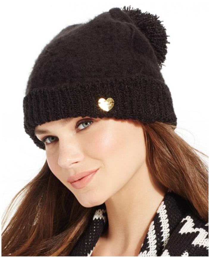 Betsey Johnson Fuzzy Logic Cuff Hat