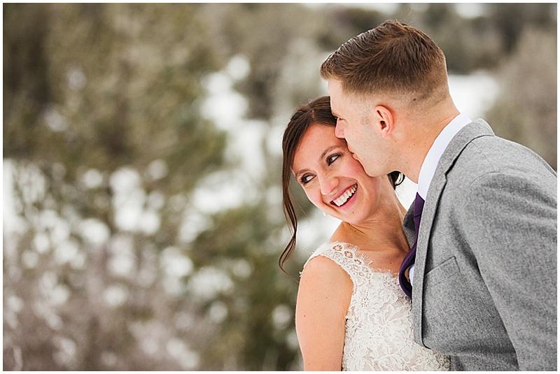 snowy wedding photos