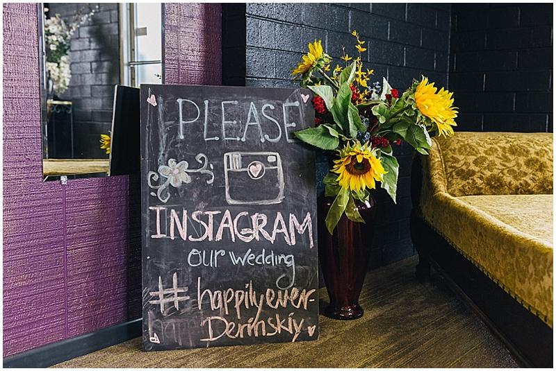 social media wedding signage