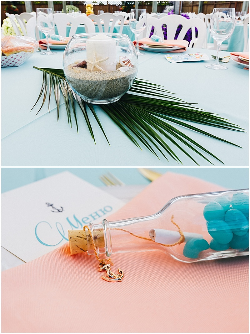 ocean wedding reception decor