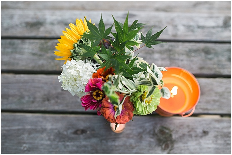 reception wildflowers