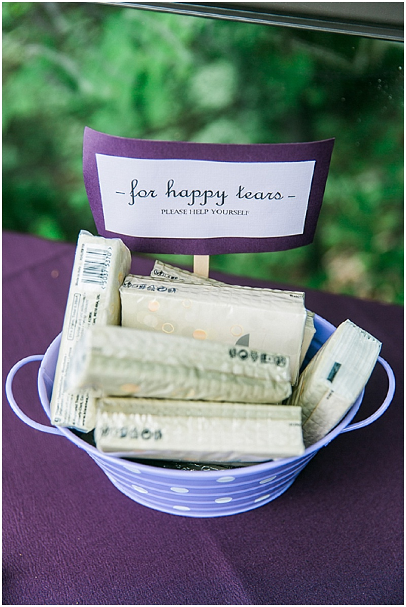 wedding tissues