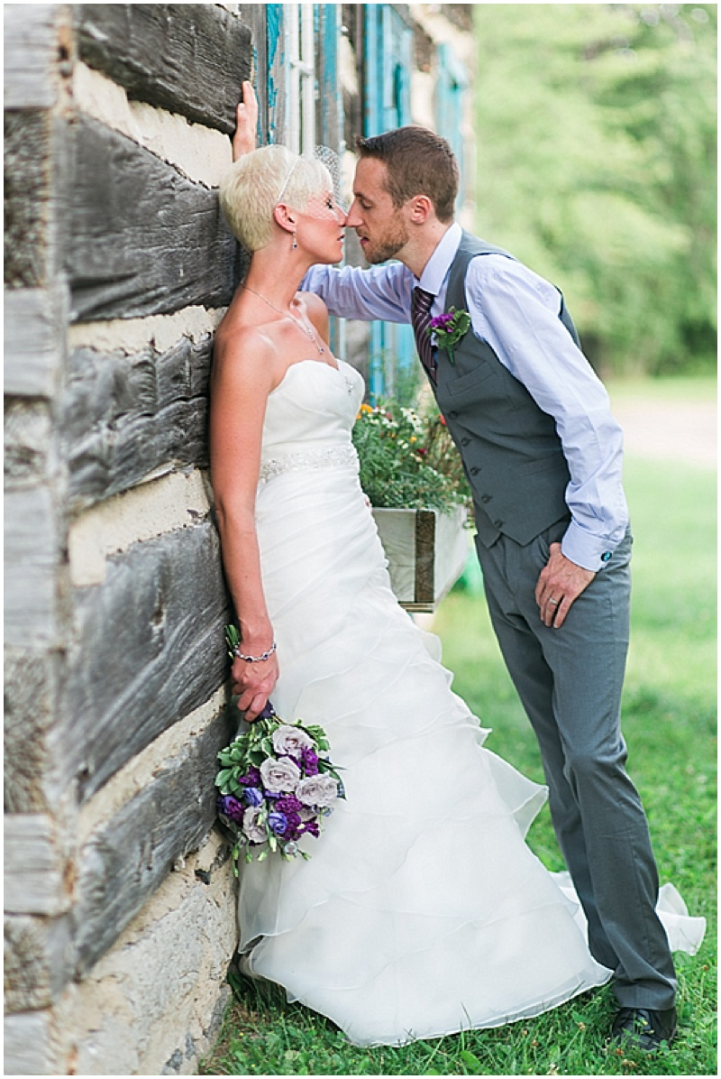 log cabin wedding photos