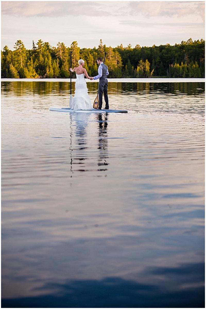 paddle board wedding photos