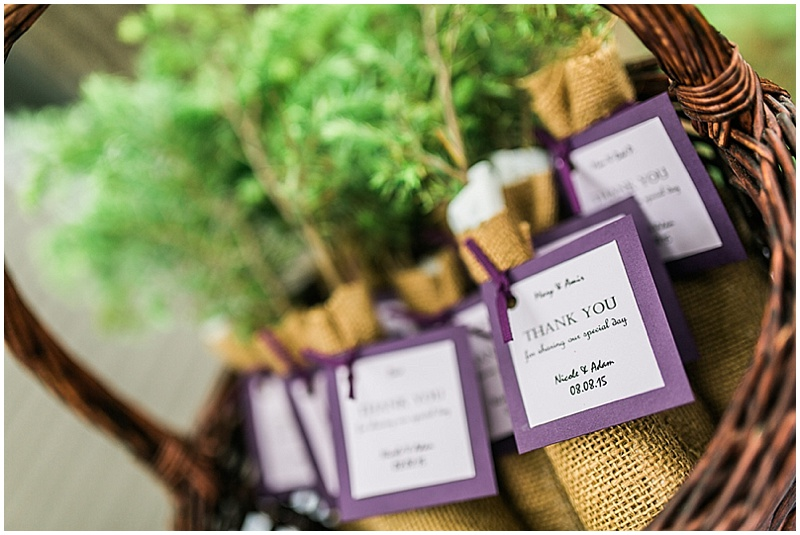 tree wedding favors