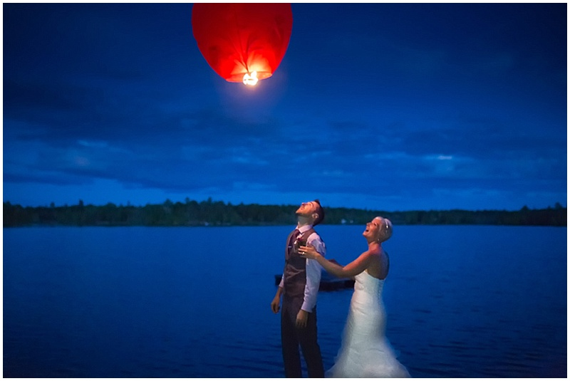 wedding lantern at night