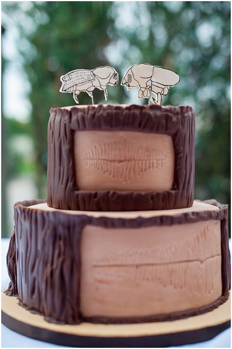 bug themed wedding cake